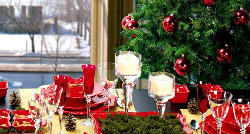 Elegant Christmas Table Decorating Ideas