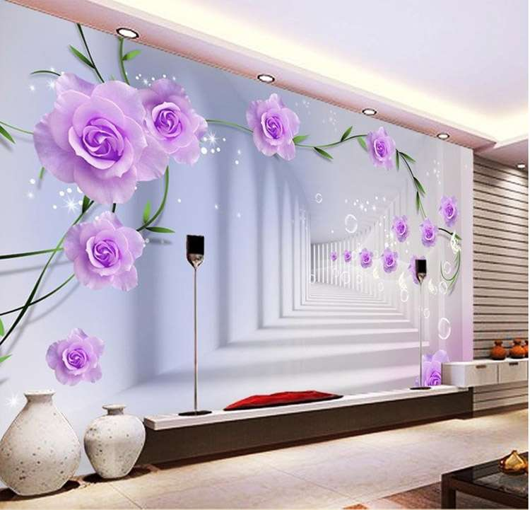 Elegant Custom Wall Murals Purple