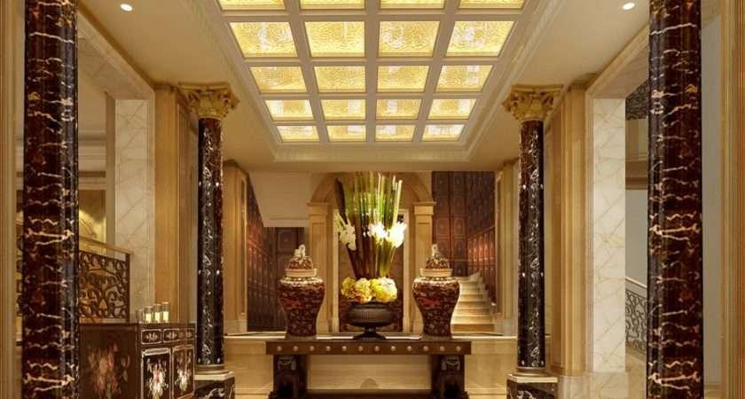 Elegant Entrance Design Idea Spacious House