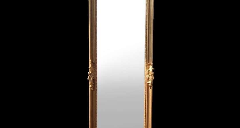 Elegant Floor Mirror Louis Xvi Style
