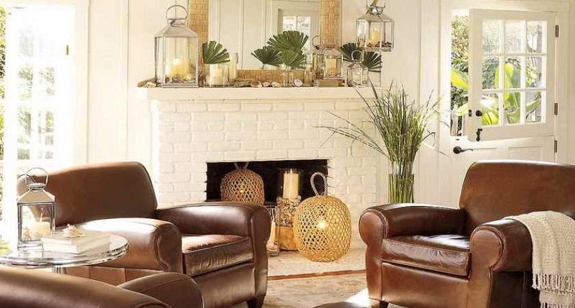 Elegant Living Room Decorating Ideas Brown Leather