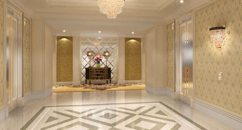 Elevator Hall Flooring Lighting Design Rendering
