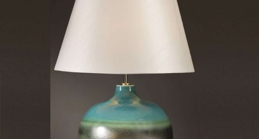 Elstead Lighting Laguna Turquoise Silver Table Lamp