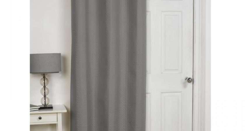 Embossed Thermal Eyelet Door Curtain Panel Energy Saving