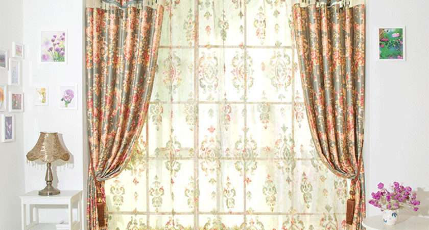Embroidered Voile Curtains New Stylish Modern Fabrics Chenille