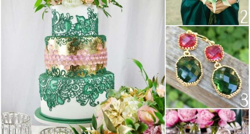 Emerald Green Pastel Pink Themed Wedding Need