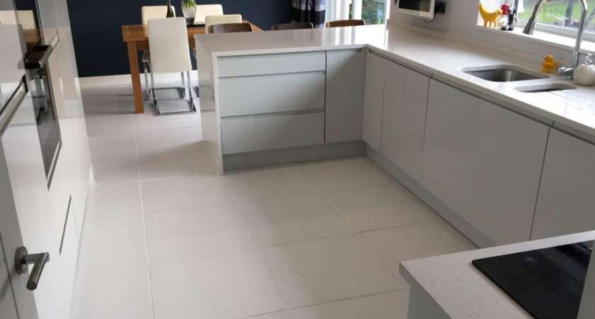 Emma Stylish Kitchen Diner White Matt Floor Tiles