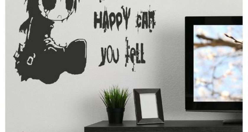 Emo Quote Gothic Style Teen Wall Stickers Home Decor Art
