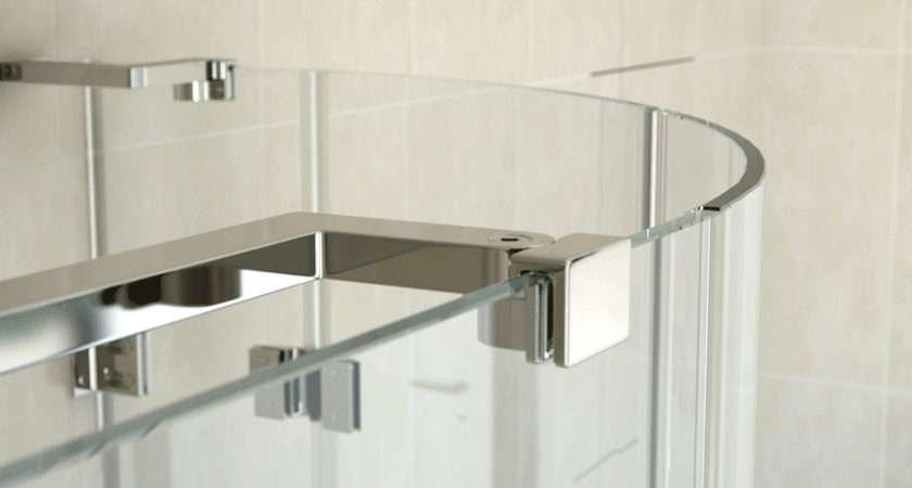 Enclosure Series Frameless Offset Quadrant Shower