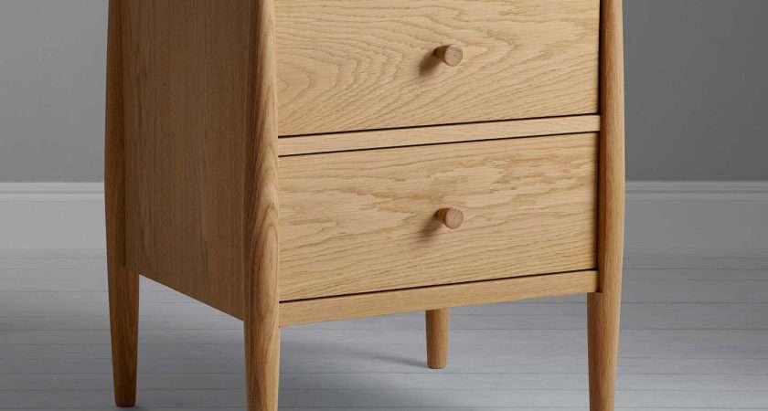 Ercol John Lewis Shalstone Drawer Bedside Table