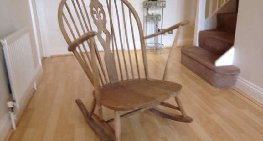 Ercol Rocking Chair Vintage Classic Loved