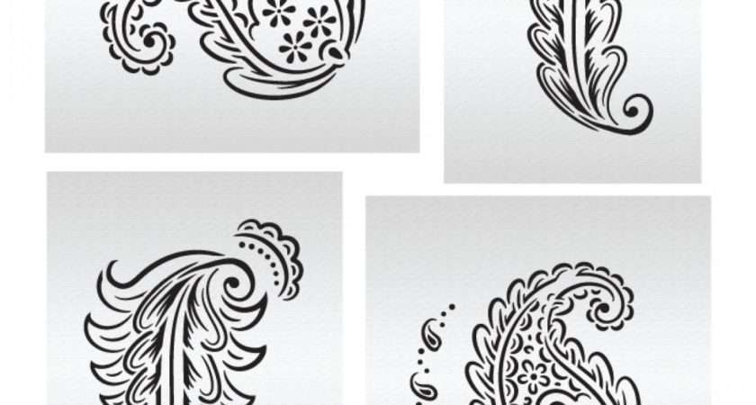 Essential Paisley Elements Stencil Set