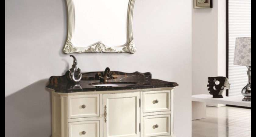 European French Style Solid Wood Bathroom Furniture