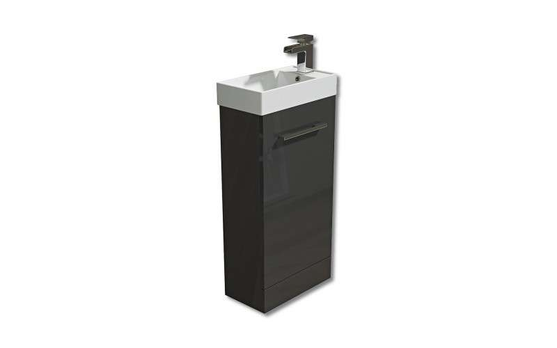 Evora Floor Standing Vanity Unit Grey Bathshop