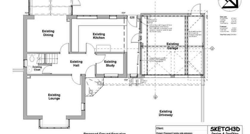 Example First Floor House Extension Plans Over Garage Milton