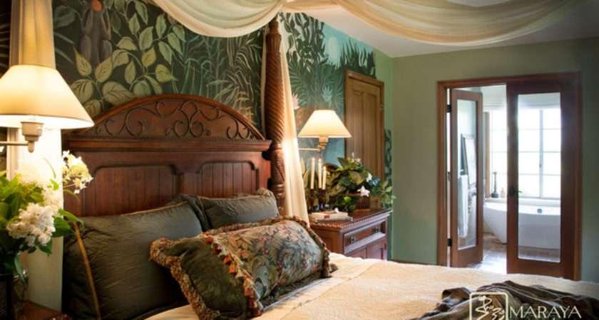 Exotic Master Bedroom Tropical Santa Barbara