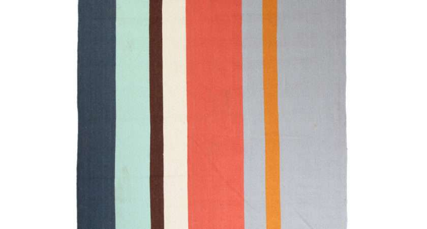 Fab Bright Striped Rug Slate