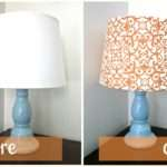 Fabric Lampshade Recover Tutorial Six Sister Stuff