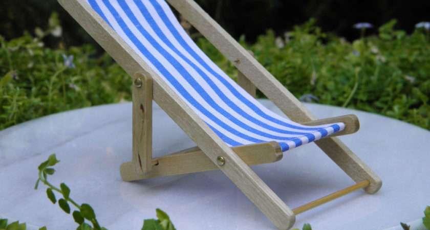 Fairy Garden Blue White Stripe Lounge Beach Deck Chair Ebay