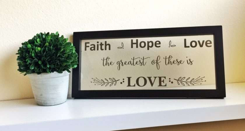 Faith Hope Love Wall Art Home Decor