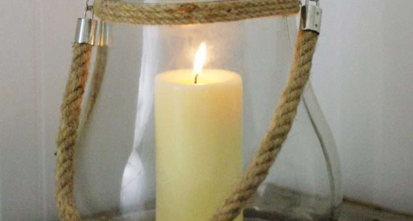 Farmhouse Musings New Jericho Bay Glass Rope Candle