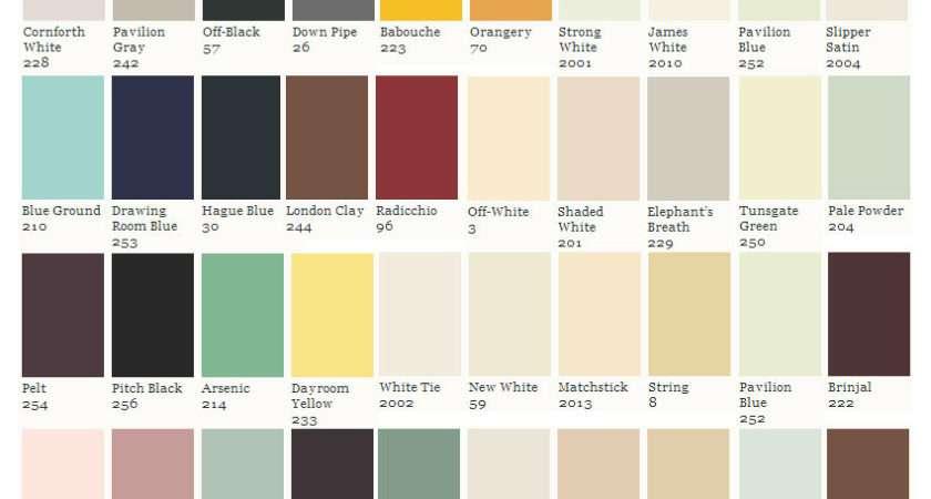 Farrow Ball Colour Card Consists Around Colours