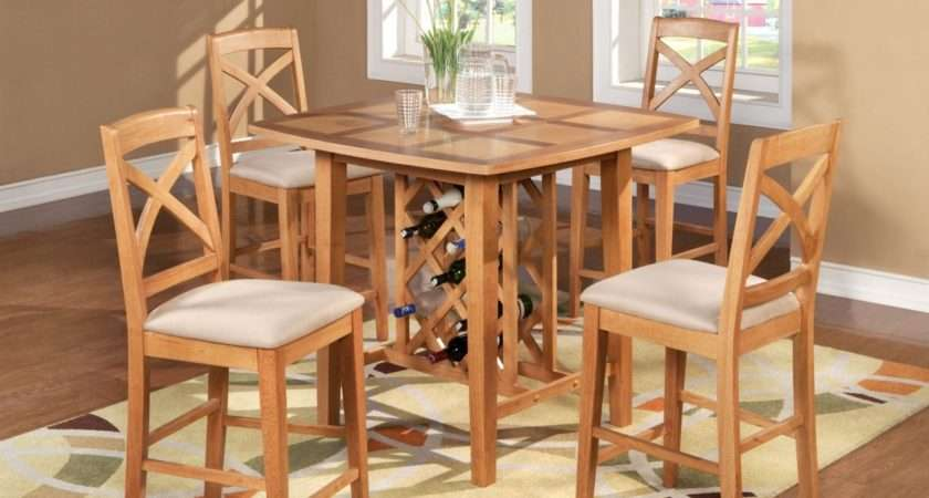 Fascinating Oak Dining Room Table Design Wine Storage Under