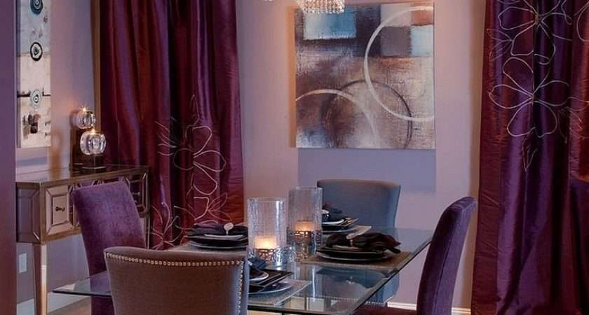 Fashion Sumptuous Dining Room Using Majestic Purple