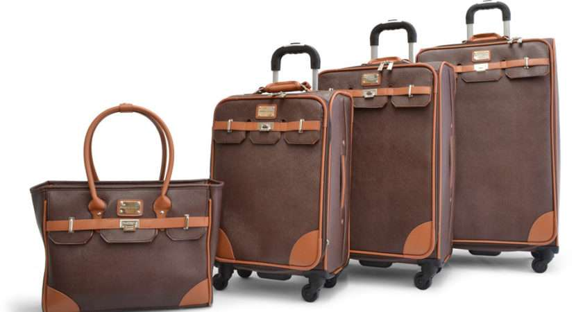 Faux Leather Luggage