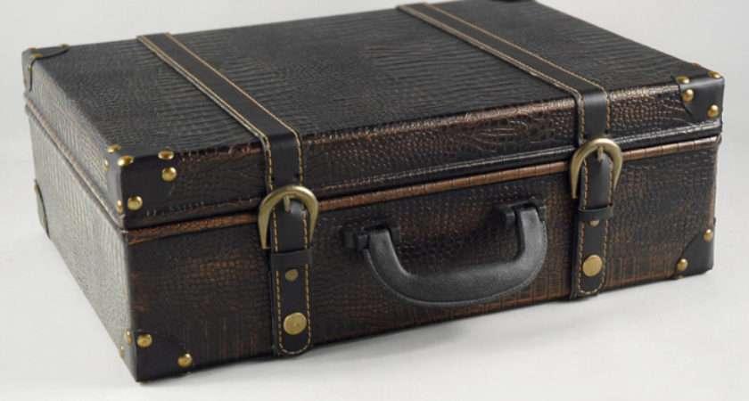 Faux Leather Vintage Suitcases Wedding Props
