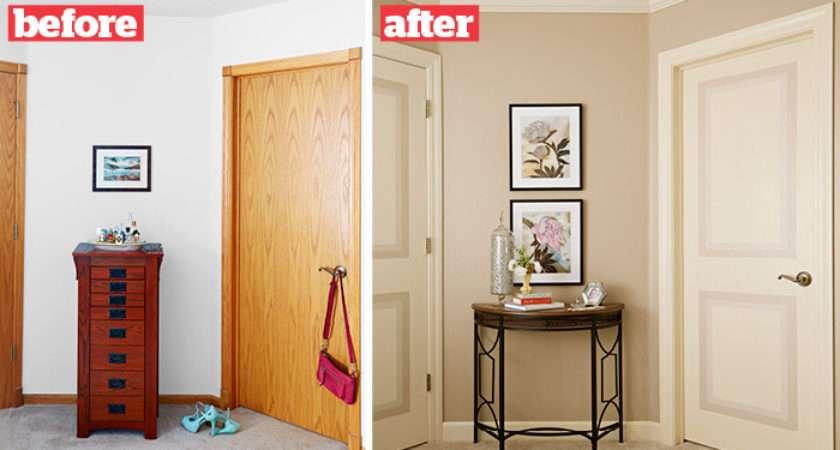 Faux Panel Painted Door