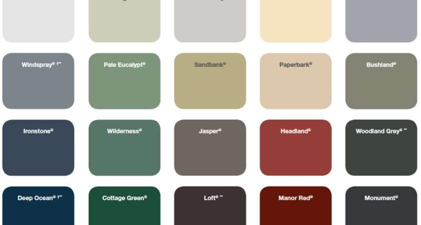 Favourite Colorbond Colours Surfmist Dune Woodland