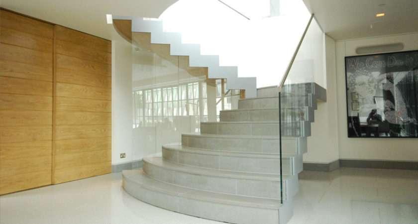 Feature Curve Stairs Works Ltd Soho Loft Wardour Street London
