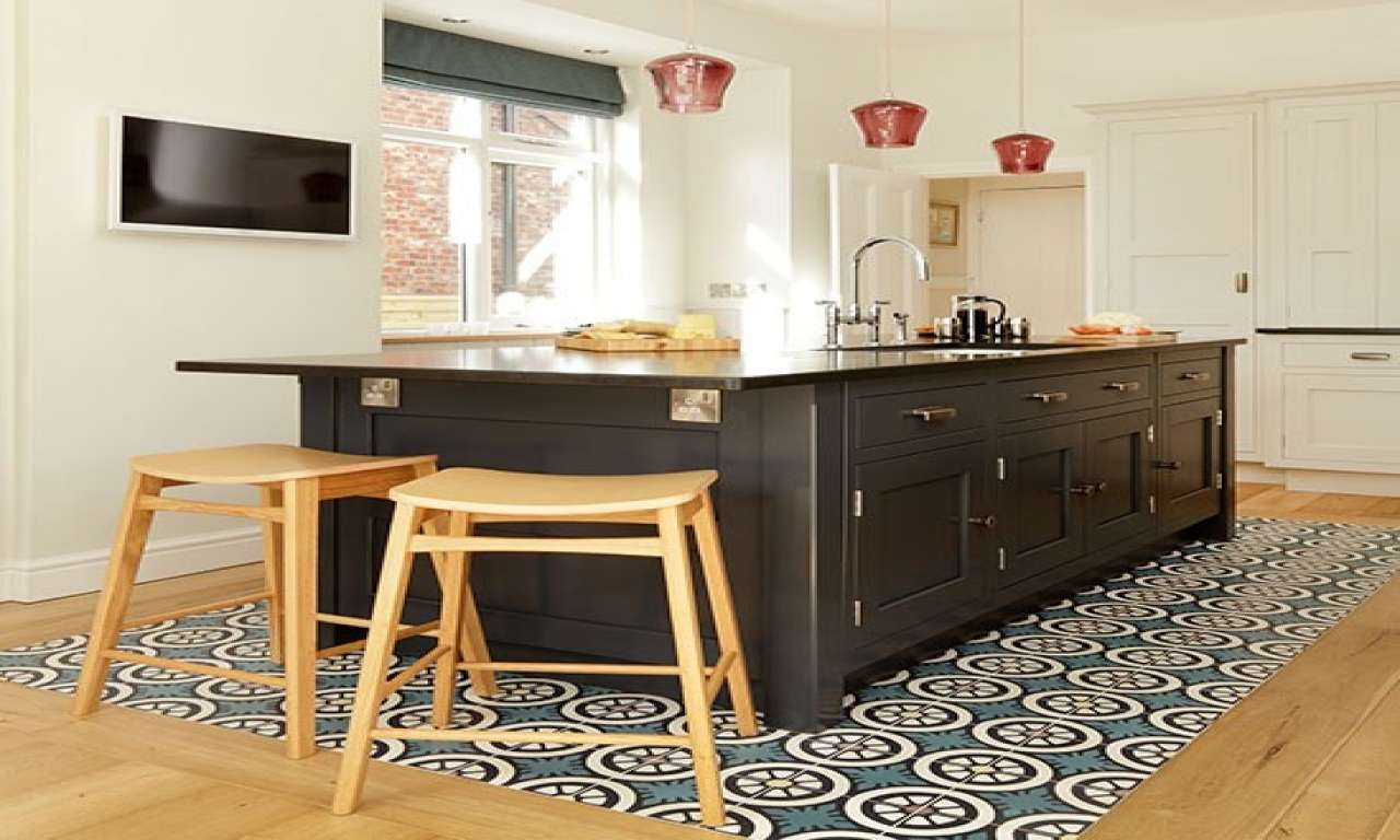 Feature Floor Tiles Kitchen Decorating Beautiful Kitchens