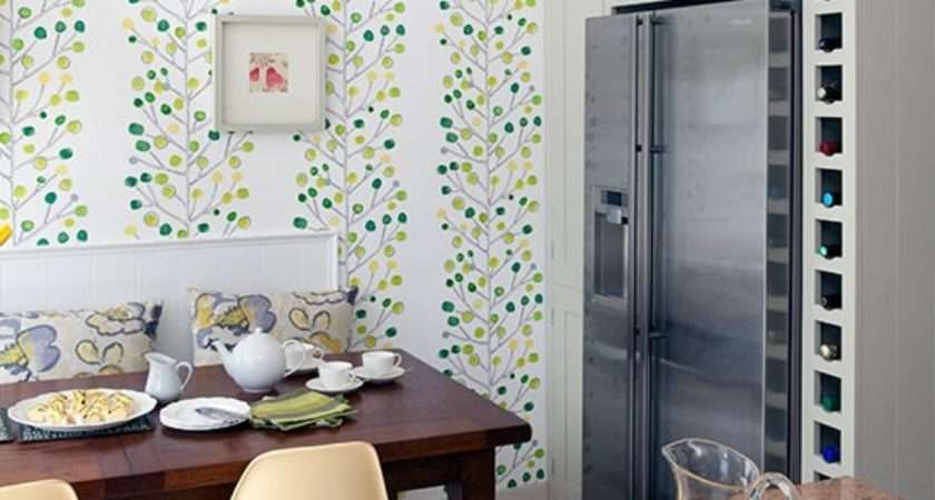 Feature Kitchen Grasscloth