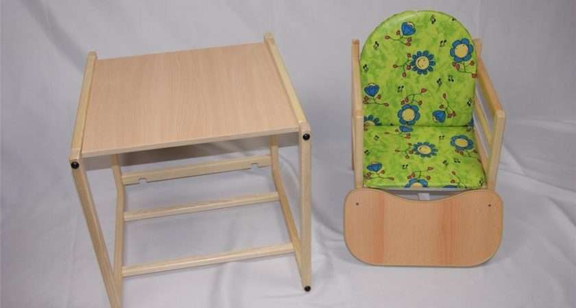 Feed Now Wooden High Chair Toddler Table