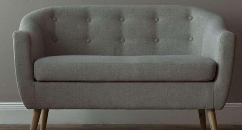 Felio Seater Sofa Natural Fabric Wooden Legs
