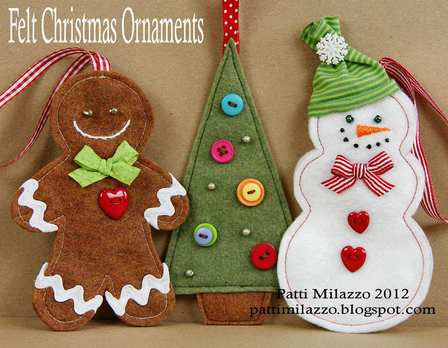 Felt Christmas Ornaments
