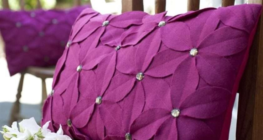 Felt Flower Pillow Cushions Pinterest