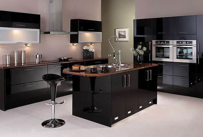 Felton Gloss Black Kitchen Package Kitchens Furniture