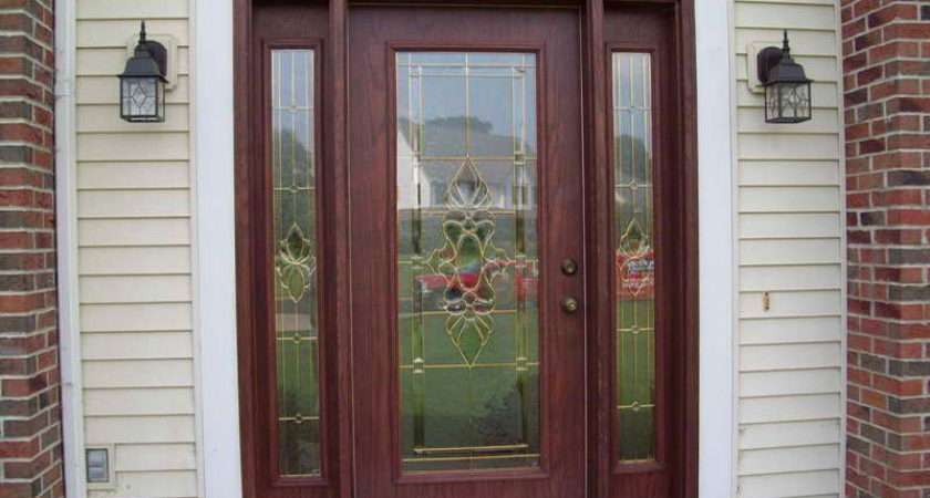 Fiberglass Front Doors Painting Ideas Two Hanging