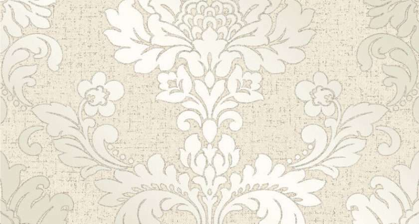 Fine Decor Quartz Damask Gold Glitter
