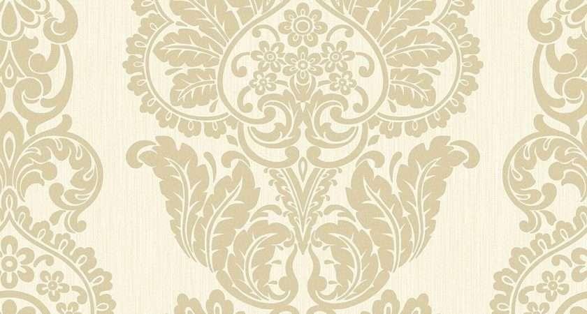 Fine Decor Rochester Damask Textured Glitter