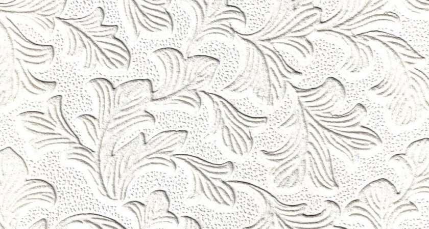 Fine Decor Supatex Acanthus Pure White Textured Paintable