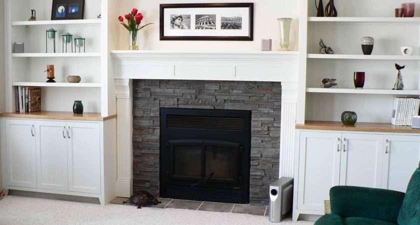 Fireplace Design Ideas Above Mantel Shelves