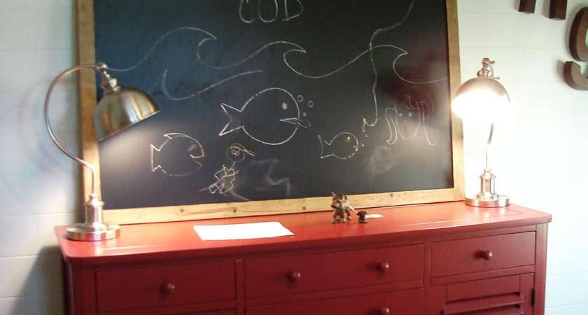 Fishing Themed Boy Room Painted Rabbit