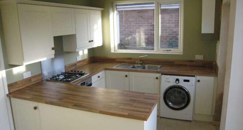 Fitted Kitchens Ivory Kitchen Walnut Block Worktops