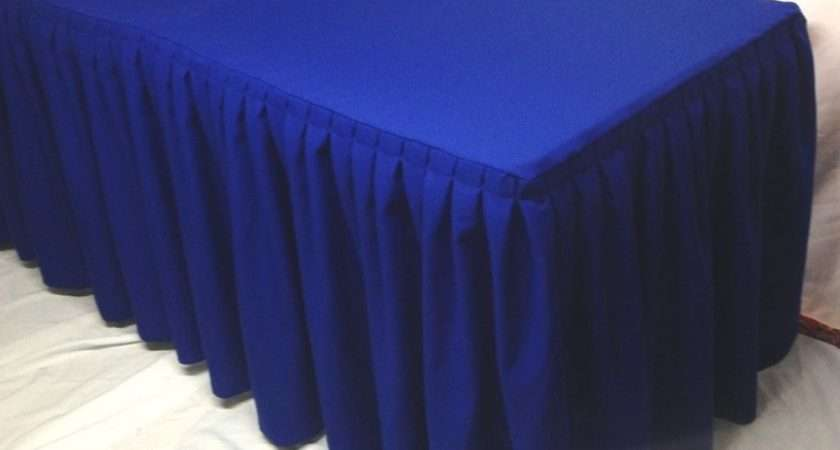 Fitted Polyester Double Pleated Table Skirt Cover