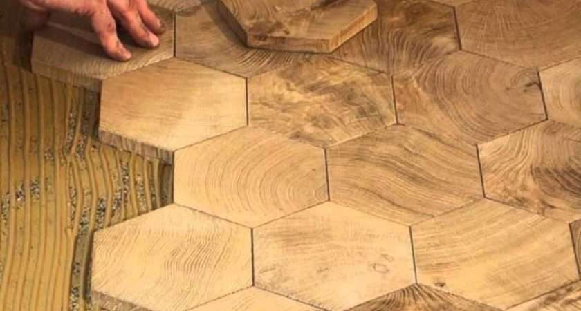 Fitting Hexagon Wood Tiles Floors Parquet Floor