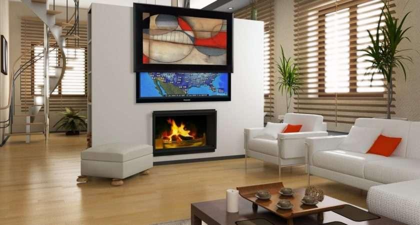 Flat Screen Living Room Wall Design